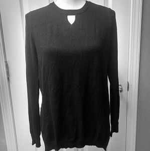 NWT OneA black sweater S thin knit sheer pullover